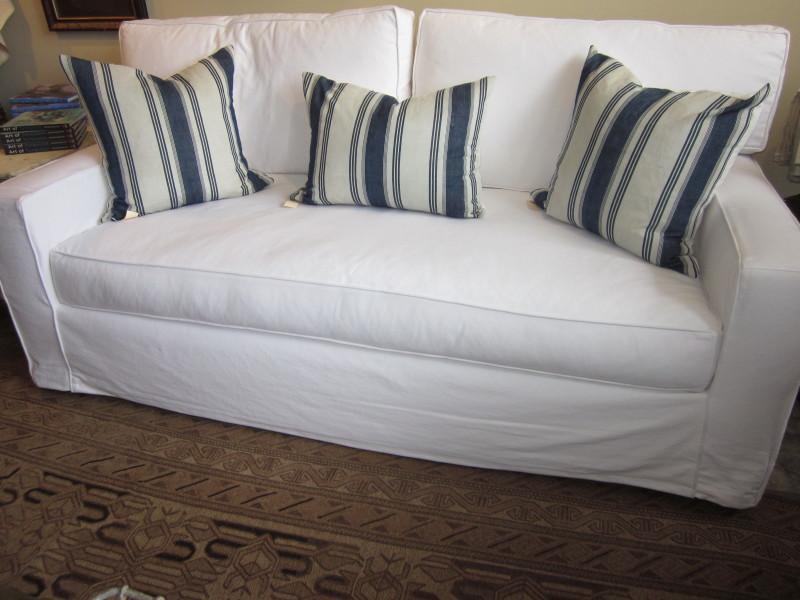 Metro Sofa White Denim. Taylor Scott ...