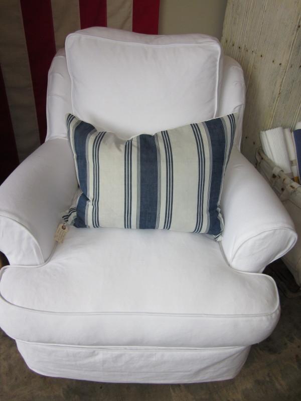 South Hampton Chair White Denim. Taylor Scott ...
