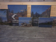 Mountain oil paintings