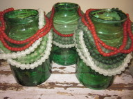 Vintage glass and beads