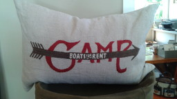 Camp for Rent pillow