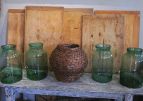 Vintage handblown glass